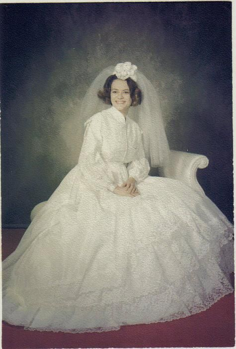 December 26, 1970 Wedding -- I remember the funky headpieces and ...