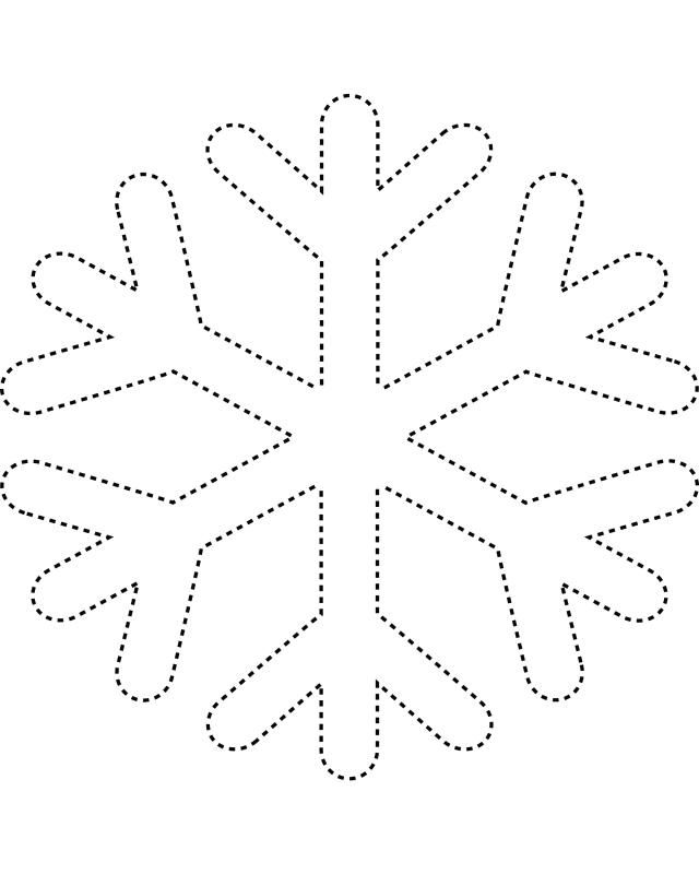 free kids stencils to print | Snowflake template 2 - Free Printable Coloring Pages