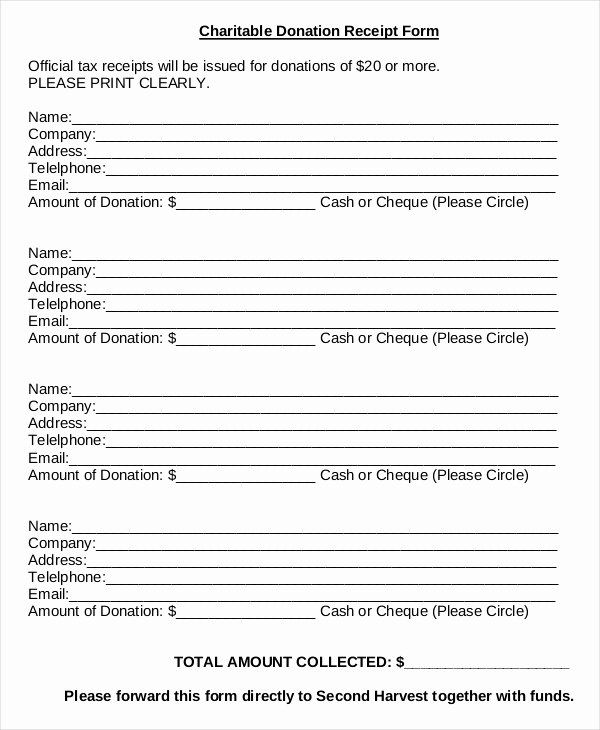 Charitable Donation Form Template Unique Donation Sheet Template 4 Free Pdf Documents Download Donation Form Receipt Template Birth Announcement Template
