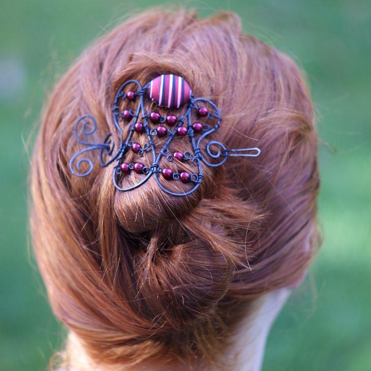bun cover / hair clip