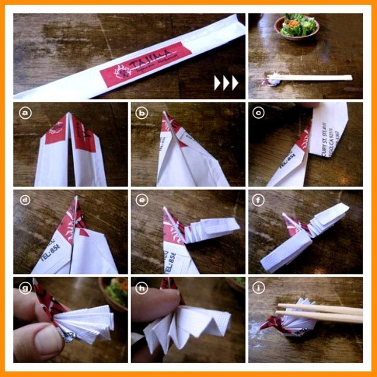 how to make chopsticks out of paper