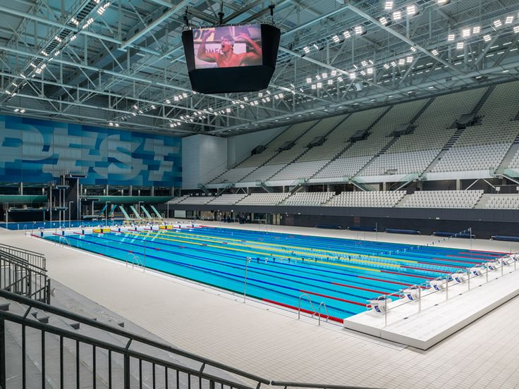 50m competition pool at Budapest FINA Championships features Agrob Buchtal pool tiles, concourse tiles and Malmsten lane ropes offering ideal swimming conditions.