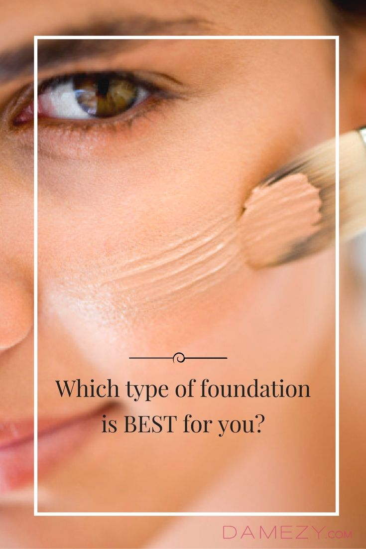 Which Type Of Foundation Is Best For You?   With the dizzying assortment of foundation formulas out there, it can be difficult to know what's best for you.  Cream, powder, liquid, tinted moisturizer, oil-free, firming — take this quiz to learn (finally!) what face makeup is best for your skin type and issues like dry, oily and sensitive skin.
