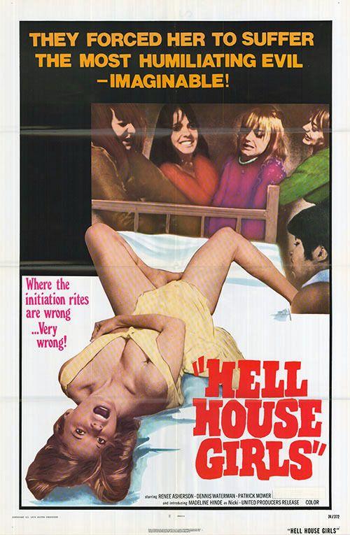 HELL HOUSE GIRLS orig 1974 SEXPLOITATION one sheet movie poster DENNIS WATERMAN