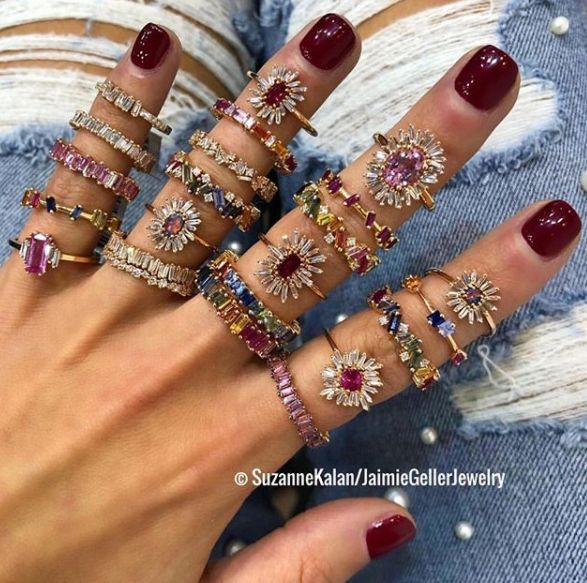 Mini Baguette Fireworks Eternity Band — Jaimie Geller Jewelry #jewelryrings