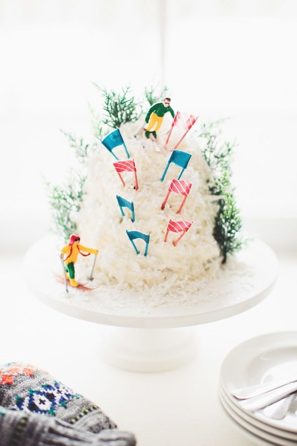 a mountain cake for the olympics