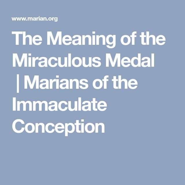 The Meaning of the Miraculous Medal |Marians of the Immaculate Conception