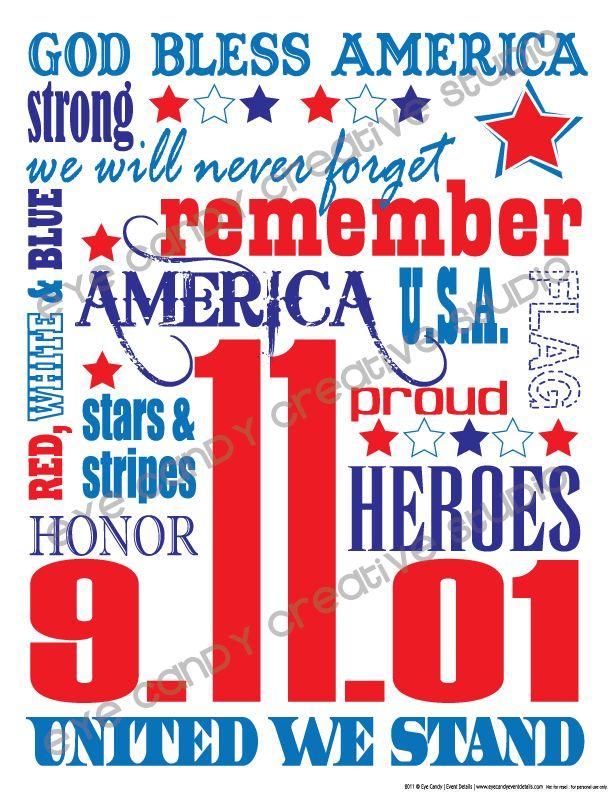 FREE 9/11 Subway Art @eyecandycreate #unitedwestand #911art #wewillneverforget