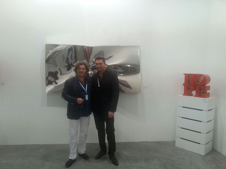 Helidon Xhixha and Cristian Contini at Art Stage Singapore 2015 Booth A8.