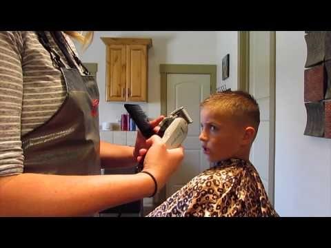 How to cut Little boy Faux Hawk Haircut - YouTube