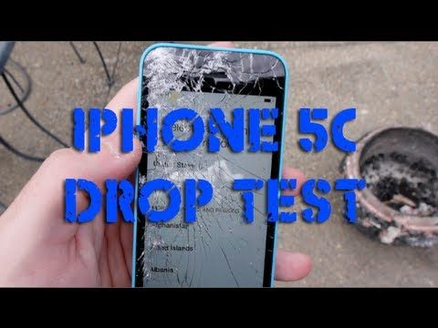 awesome iPhone 5C Durability Drop Test