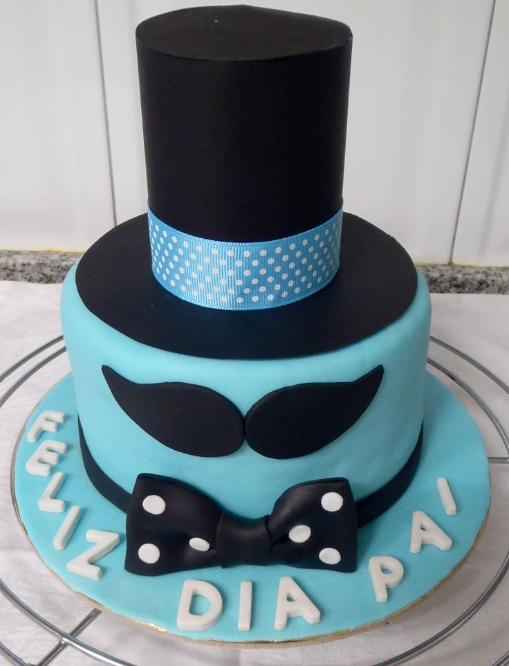 Mustache cake, litle men, father day