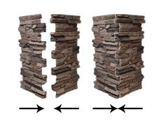 faux stone columns...can I add this to the stucco ones?