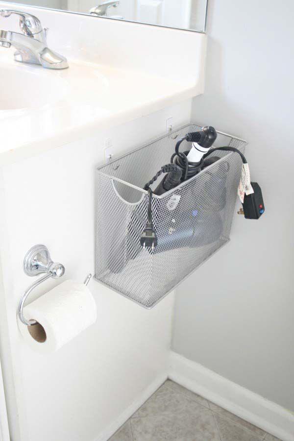 File Box Bathroom Appliance Storage: 31 Amazingly DIY Small Bathroom Storage Hacks Help You Store More