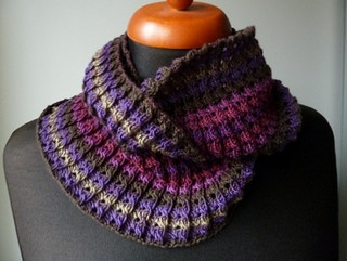 himawaris Twisted Rib Neckwarmer free Knit - Cowls Pinterest