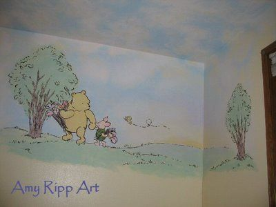 110 best images about winnie the pooh on pinterest for Classic pooh nursery mural