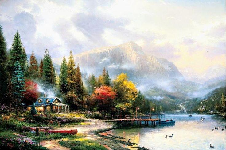 Thomas Kinkade Prints for Sale | Thomas Kinkade Paintings - Thomas Kinkade End of a Perfect Day III ...