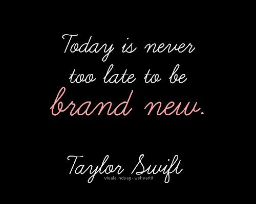 have no regrets, and if you make mistakes, today is never to late to fix them