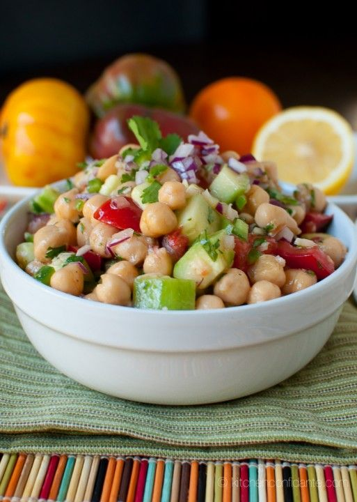 Chickpea salad--easy for lunch?