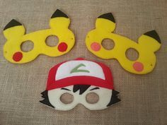Pokemon Felt Masks