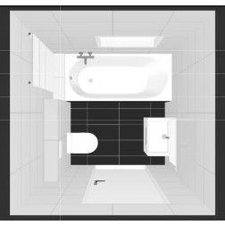Complete badkamer met badkuip incl. installatie eu. 6.595,=