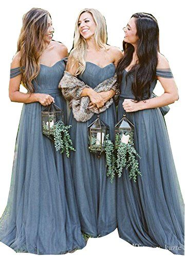 c0cefb7b61 New Fanciest Women s Off The Shoulder Tulle Long Bridesmaid Dresses 2018  Wedding Party Dress womens fashion clothing.   59.99 - 76.89   topbrandsclothing ...