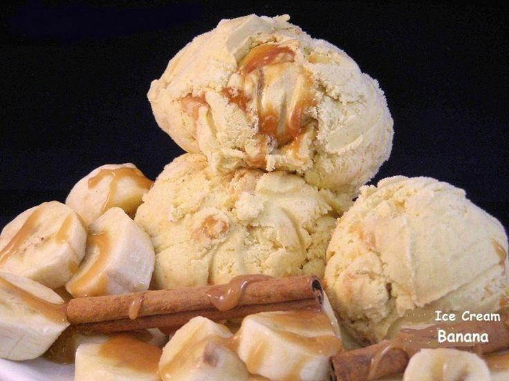 Ζαχαροπλαστική Πanos: Παγωτό μπανάνα (νέο)