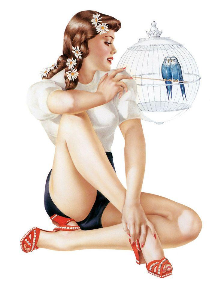 Vargas Alberto Vargas #Alberto Vargas Vintage Pin Up Girl Illustration #Pin-Up Girls #PinUp #Art #Vintage #Illustration #Alberto Vargas