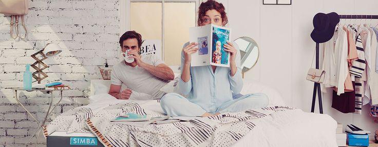 Het Simba matras, een plek om je boek te lezen, voor goede nachtrust, en héérlijke ochtenden met verse koffie en een tijdschrift!
