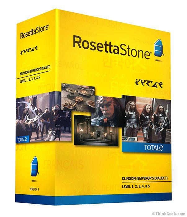 Rosetta Stone® - Learn to Speak Klingon....this is sooooo mine!!!!