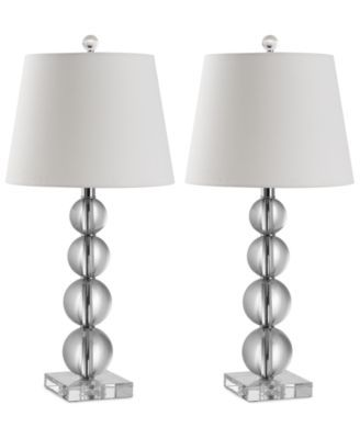 Safavieh Set Of 2 Millie Crystal Ball Table Lamps Macys