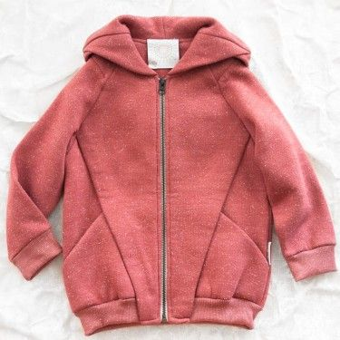 trommpo origami hoodie - pink