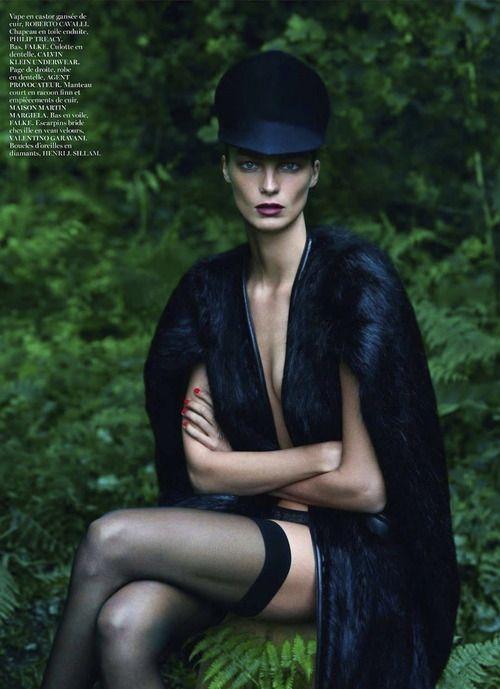 Daria Werbowy photographed by Mert Alas and Marcus Piggott for Vogue Paris, September 2012