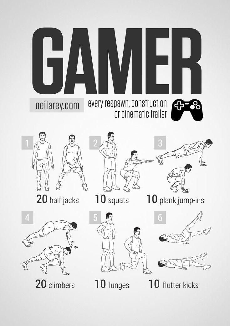 Gamer Workout neilarey.com | #fitness #bodyweight