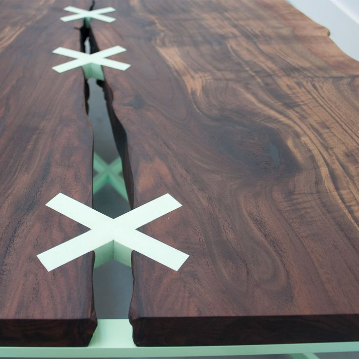 Stitch Coffee Table Designed By Uhuru Design. The Stitched Table Is Built  Around A One Of A Kind, Flitch Cut Hardwood Slab.