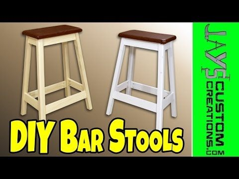 Nice and simple bar stools. If you add some steps, it would make a good garage stool.