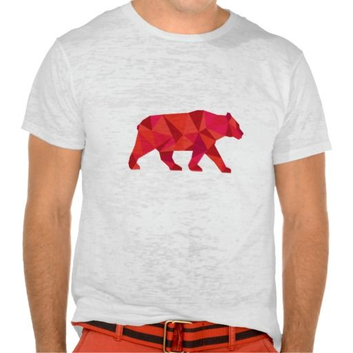 American Black Bear Walking Low Polygon T Shirt. Low polygon style Illustration of an American black bear,Ursus americanus, a medium-sized bear native to North America walking viewed from side set on isolated white background. #Lowpolygon #AmericanBlackBearWalking