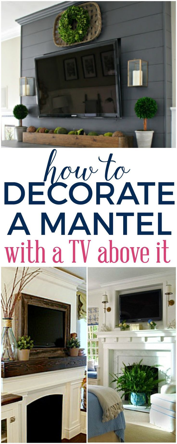 Fireplace Mantel Decor, How To Decorate Fireplace With Tv Over Mantel