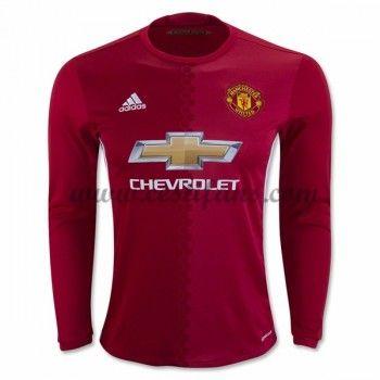 Manchester United Fotbalové Dresy 2016-17 Domáci Dres Dlouhým Rukávem