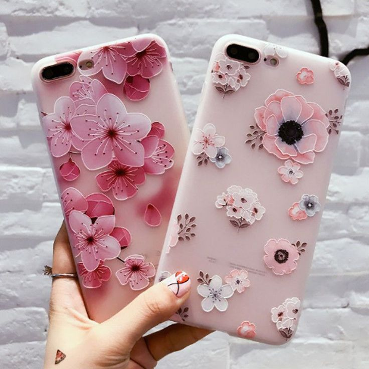 Iphone X 8 6S 7 Plus 3D Cute Rubber Soft Silicone Pattern Flower Case Cover #IphoneCaseCovers