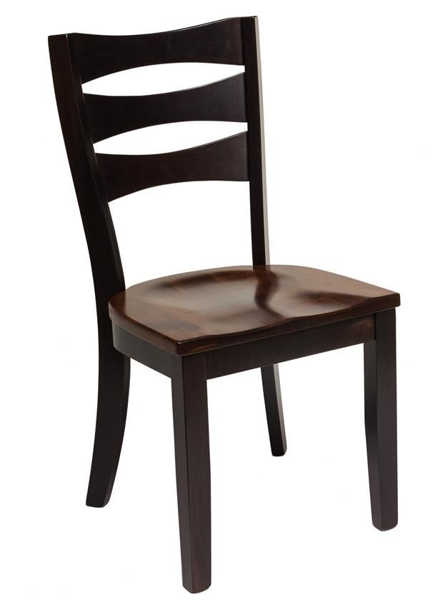 Amish Sierra Dining Chair  Barkman Furniture Collection  The Amish Sierra Chair offers a comfortable and eye-catching contemporary design for your dining room furniture collection.