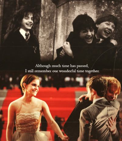 HP <3 The second picture is way too cute!