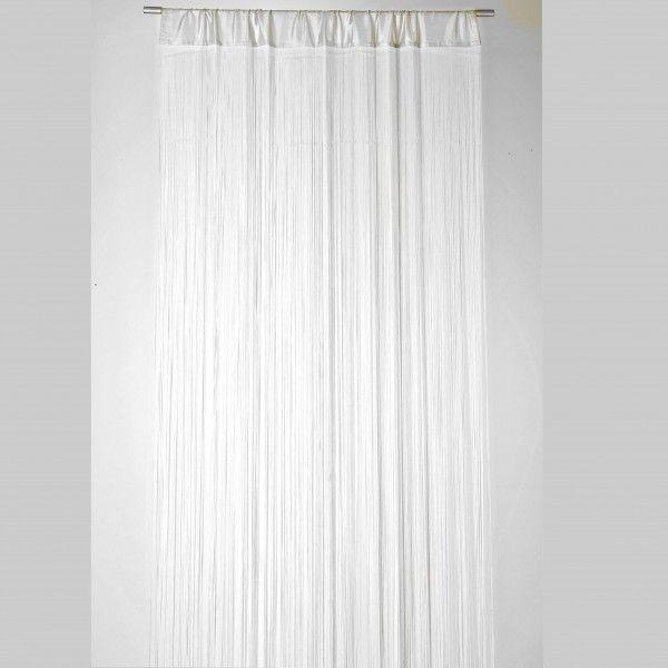 Fadenvorhang Türvorhang Fadengardine 100x250cm Waterfall weiß Gardinen Fertiggardinen Fadenvorhänge