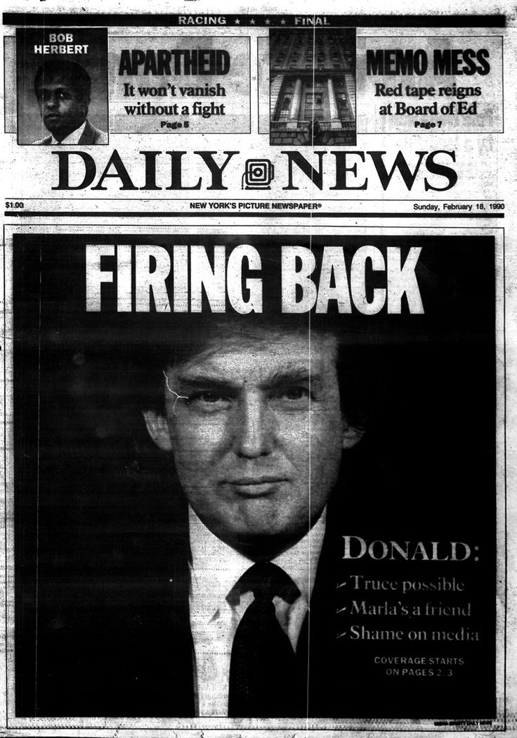 Here's a look back at some historical headlines from the Daily News  archives covering Donald Trump's
