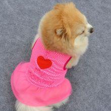 Venda quente de Verão do Filhote de Cachorro do animal de Estimação Cães Pequenos Vestuário Colete Gato Roupas Casaco T-shirt Vestido de Colete alishoppbrasil