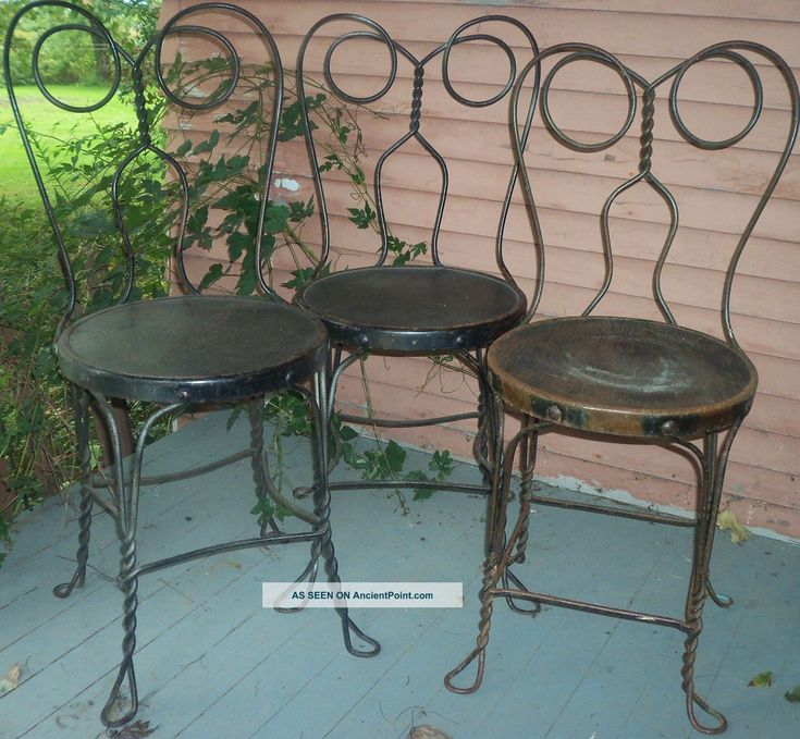Soda Shop Ice Cream Chairs   Condition   Adult Size 1900 1950 Photo