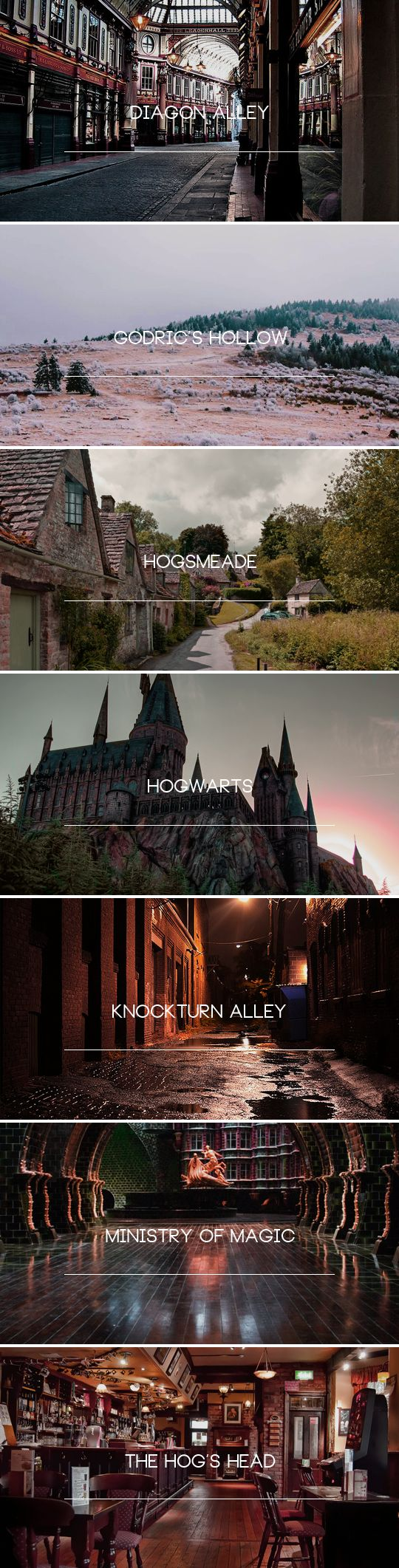 Harry Potter: Assorted Places in the Harry Potter World | #HarryPotter