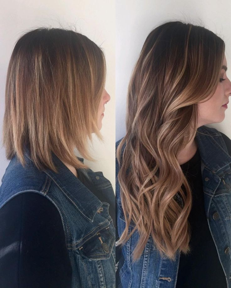 Bombshell tape-ins colors 4/8 & 10/16. #hairextensions #tapeins #hairgoals