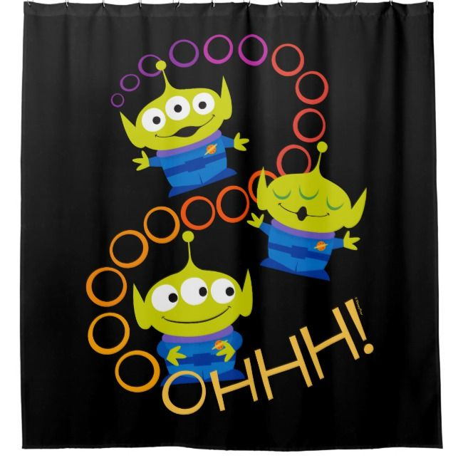 Toy Story 4 Aliens Ooooh Shower Curtain Zazzle Com