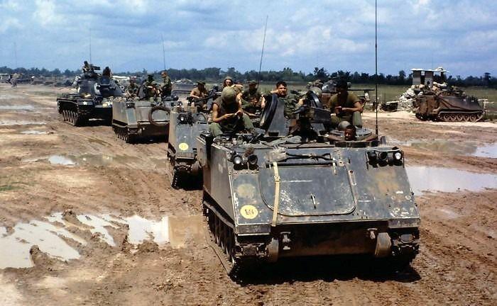 US Army M113 APCs
